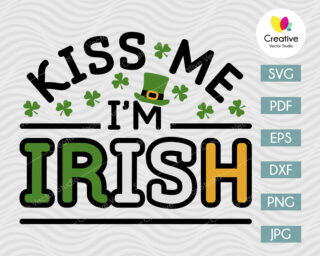 Kiss Me Im Irish svg