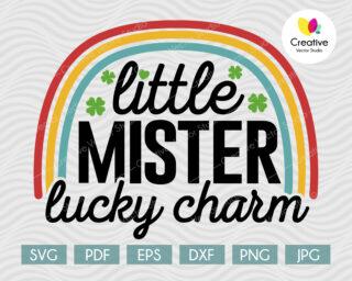 Little Mister Lucky Charm svg