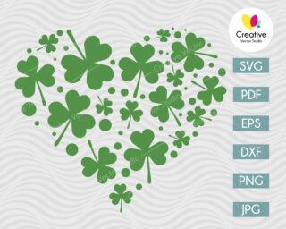 St. Patrick Day svg heart