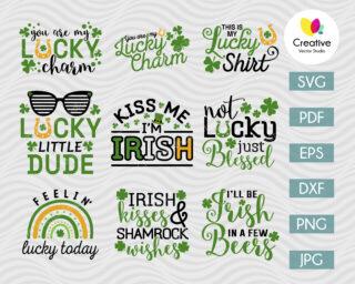 Lucky SVG Bundle, St. Patricks Day SVG
