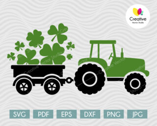 St Patrick's Day Tractor SVG