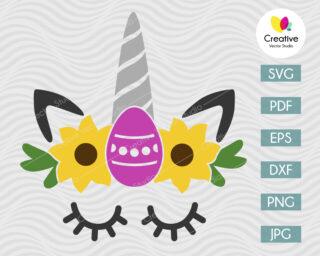 Cute Easter Unicorn SVG