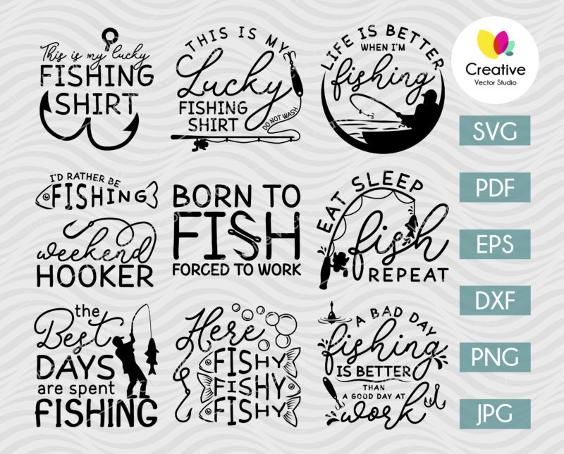 Funny Fishing Quotes SVG Bundle