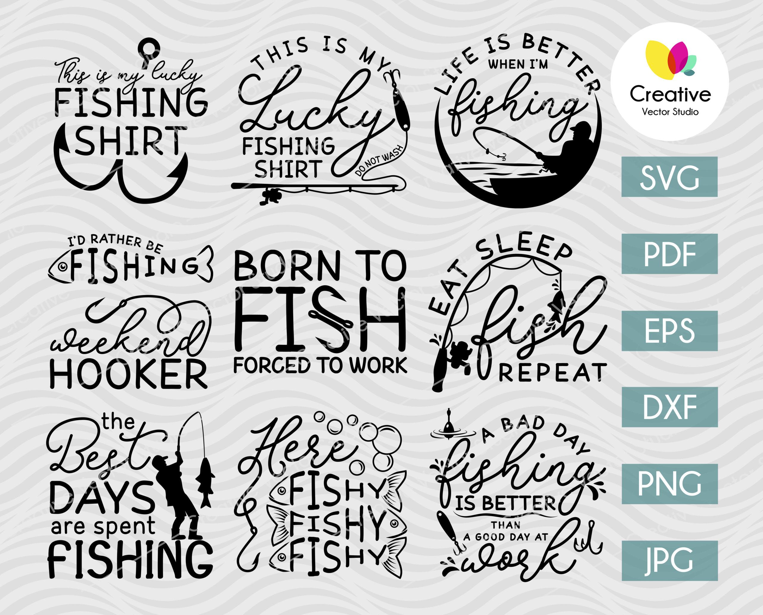 Download Funny Fishing Quotes Svg Bundle Creative Vector Studio