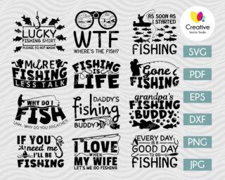 Fishing SVG Bundle