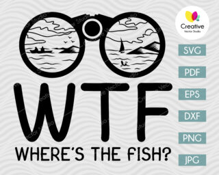 WTF Where's the Fish SVG, Fishing SVG