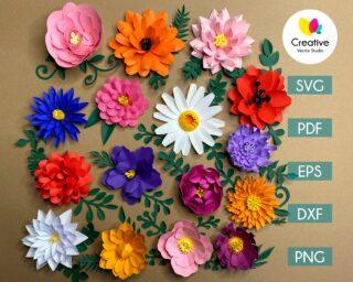 Paper Flower SVG Big Bundle