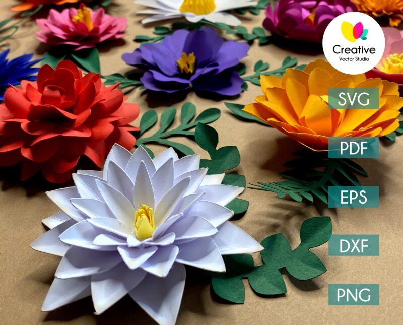 Paper flower svg bundle