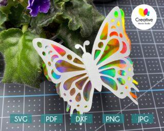 3D Paper Butterfly svg