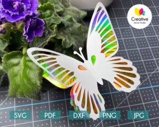 3D Butterfly svg