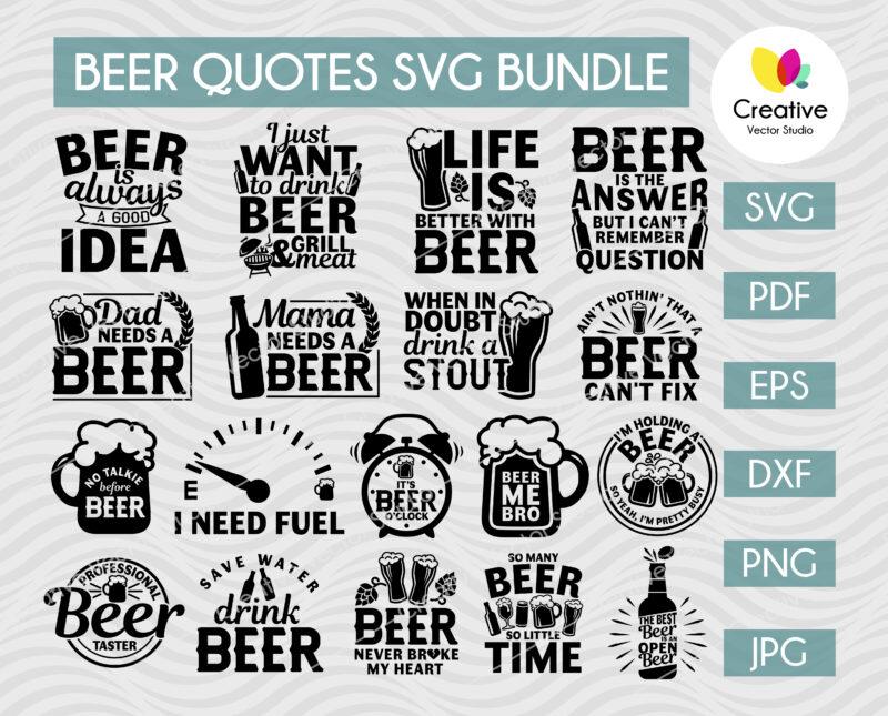 Beer Quotes SVG Bundle