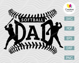 softball dad shirt svg