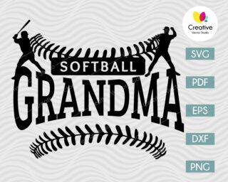 softball grandma shirt svg