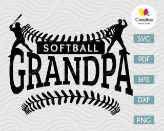 softball grandpa svg