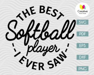 The Best Softball Player SVG