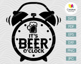 It's Beer O'clock SVG