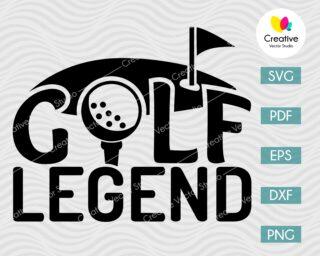 Golf Legend SVG, DXF, PNG Cut File