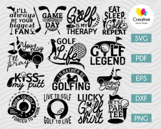 Golf SVG, DXF, PNG Cut Files