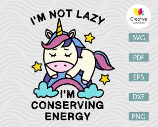 Lazy Rainbow Unicorn SVG