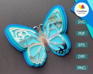 Butterfly SVG cutting template
