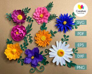 Paper Flower SVG Bundle #1