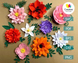 Paper Flower SVG Bundle #2