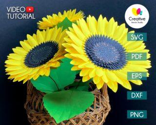 Sunflower Paper Flower Template