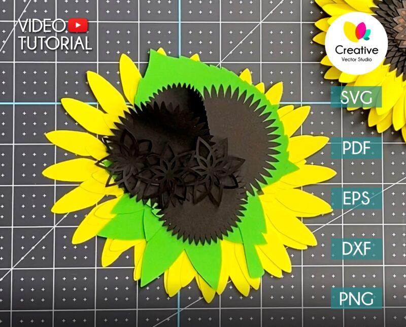 paper sunflower video tutorial