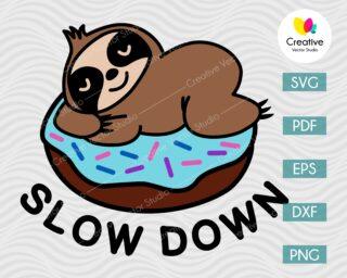 slow down sloth svg