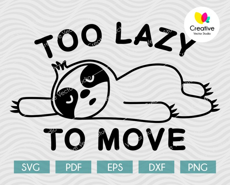 too lazy to move sloth svg