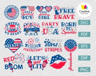 Fourth of July SVG Bundle