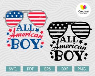 All American Boy SVG