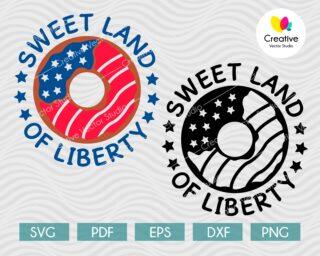 4th of July donut svg