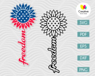 Patriotic Sunflower svg