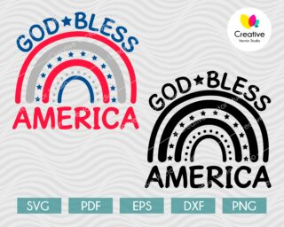 Goob bless america svg