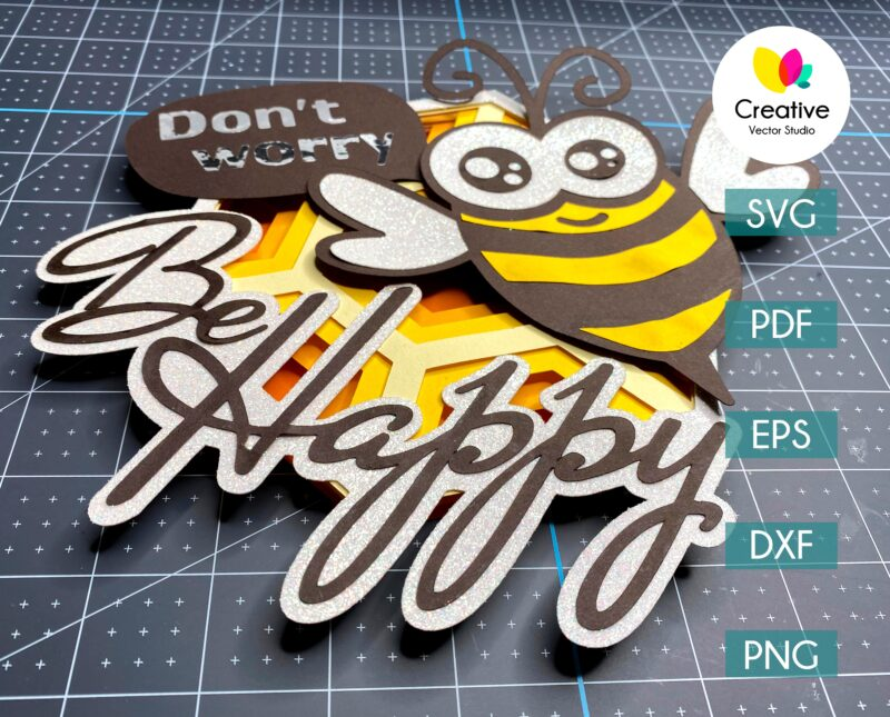 be happy bee paper template