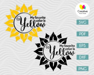 my favorite color yellow svg