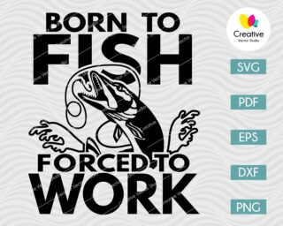 Born to Fish Pike svg