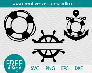 Free Anchor Monogram SVG
