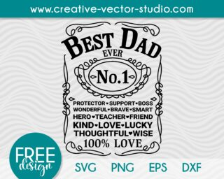 Father's Day SVG Whiskey Label
