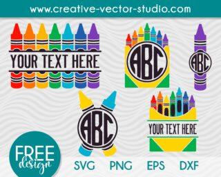 design-crayon-svg-monogram-bundle