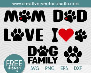 free dog family svg