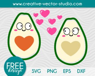 Free Avocado Couple SVG