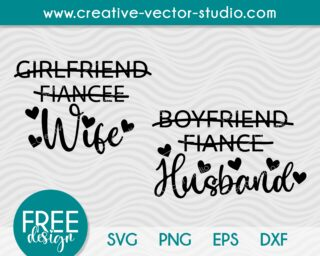 Free Husband and Wife SVG