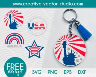 4th-of-july-svg-keychain