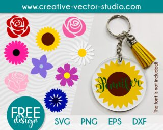 keychain-flowers-svg