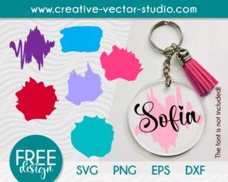 Free Paint Brush Stroke SVG Keyring Pattern