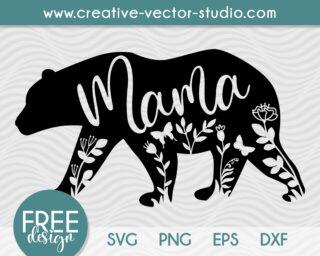 Free Mama Bear SVG