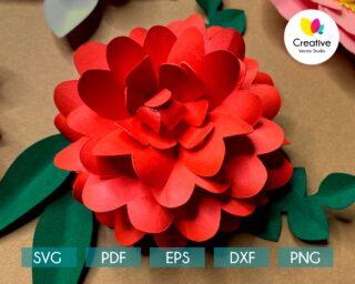 Rose SVG paper flower template