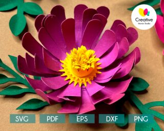 paper flower svg template